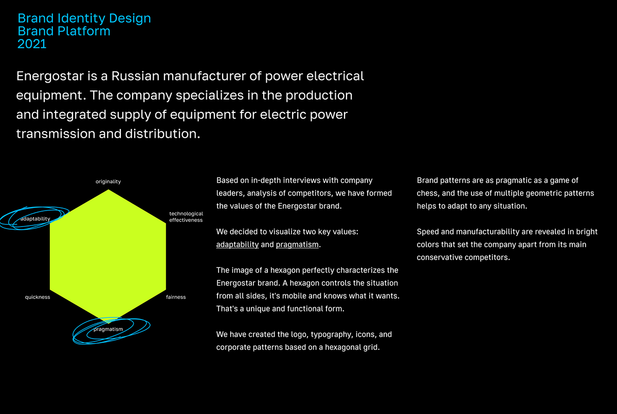 branding  electricity energy equipment grid hexagon identity Logotype manufacture