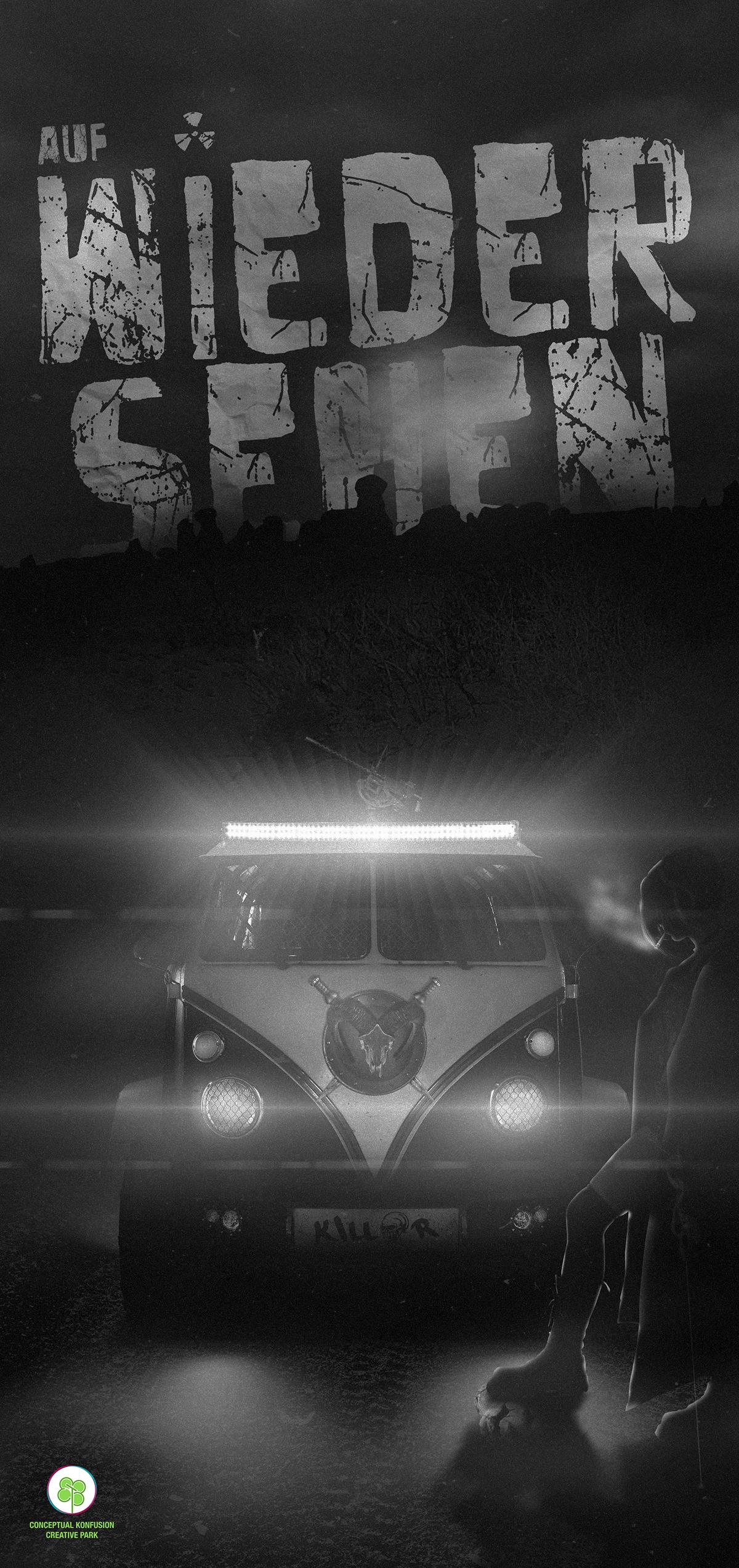 german apocalypse world zombie end fight volkswagon Van Offroad kill