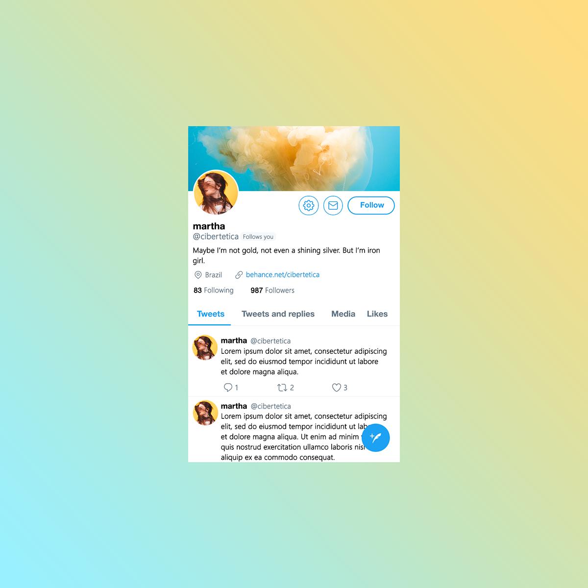 free twitter profile mockup template 2018 on pantone canvas gallery