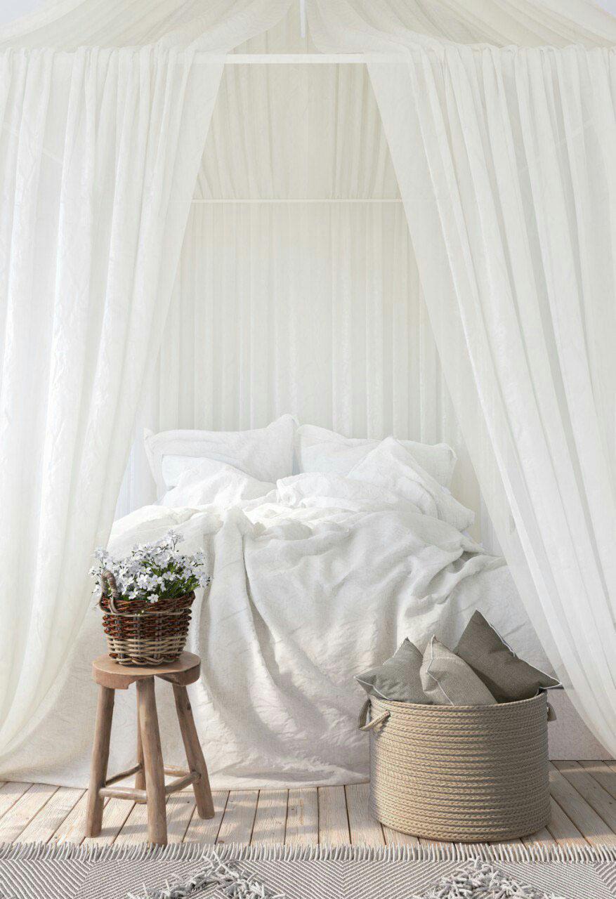 bedroom White tenderness MORNING corona modern light cozy 3dmax Render