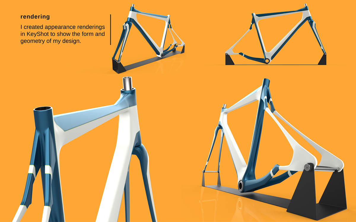 Cycling road bike Solidworks surfacing sports