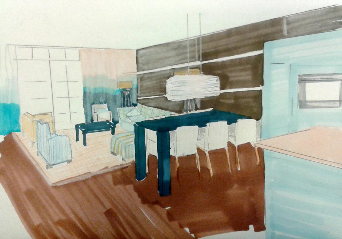 Interior design office Private Home Design