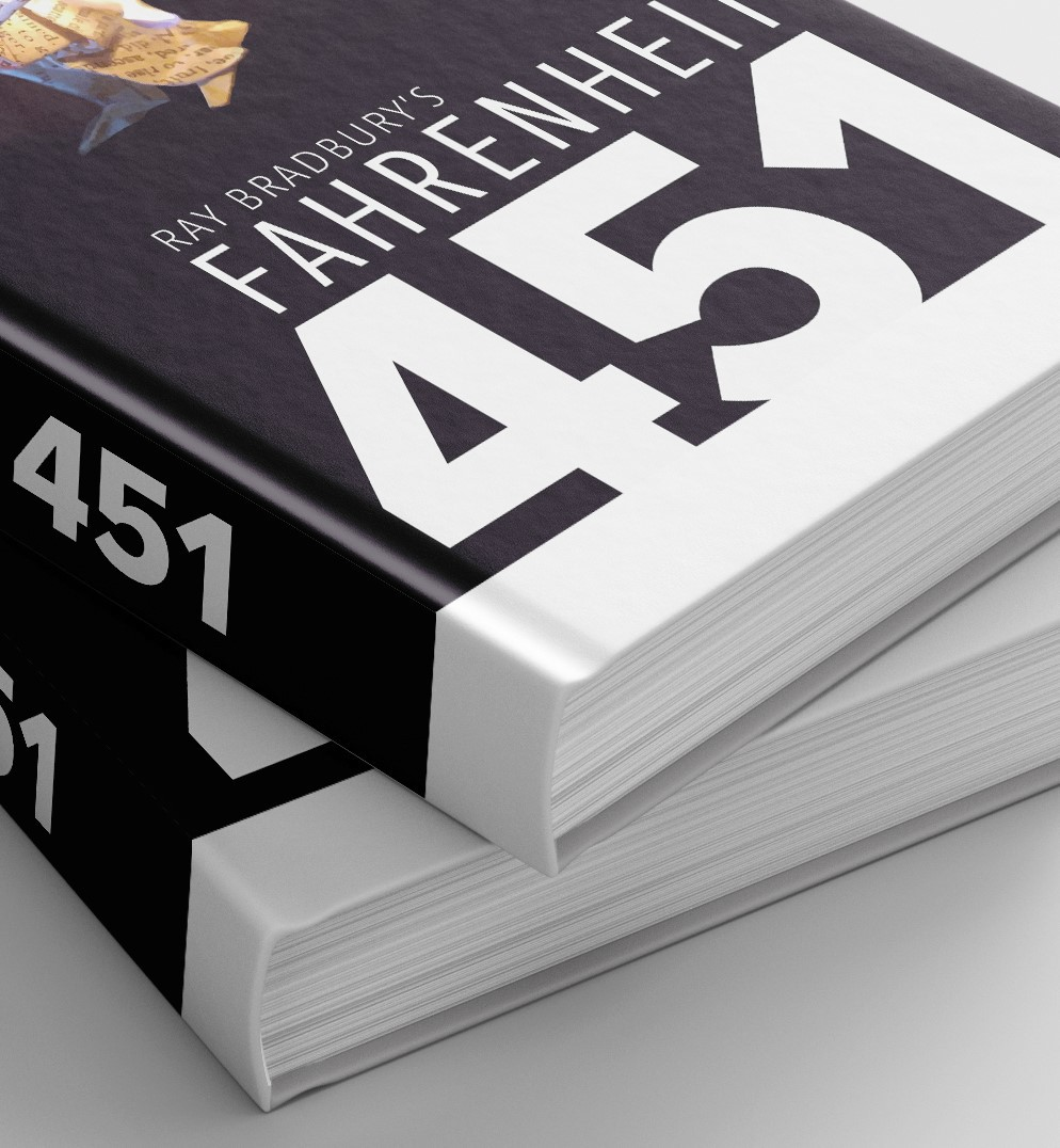 Fahrenheit 451 book cover on behance this time i was able to explore creating an image that is beautiful and functions as a symbol and then i was able to find a book title that fit buycottarizona Image collections