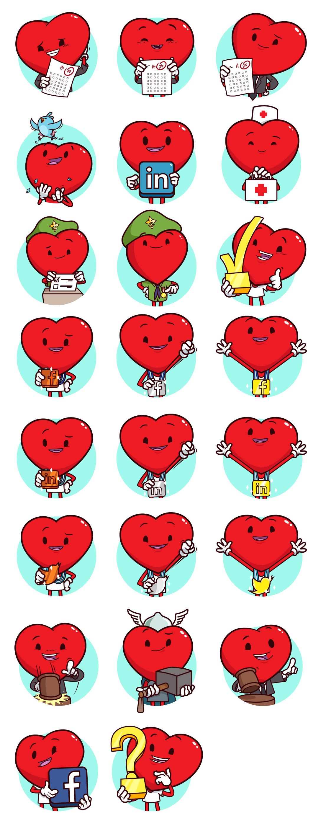 koniu Badges heart badge Icon star for life