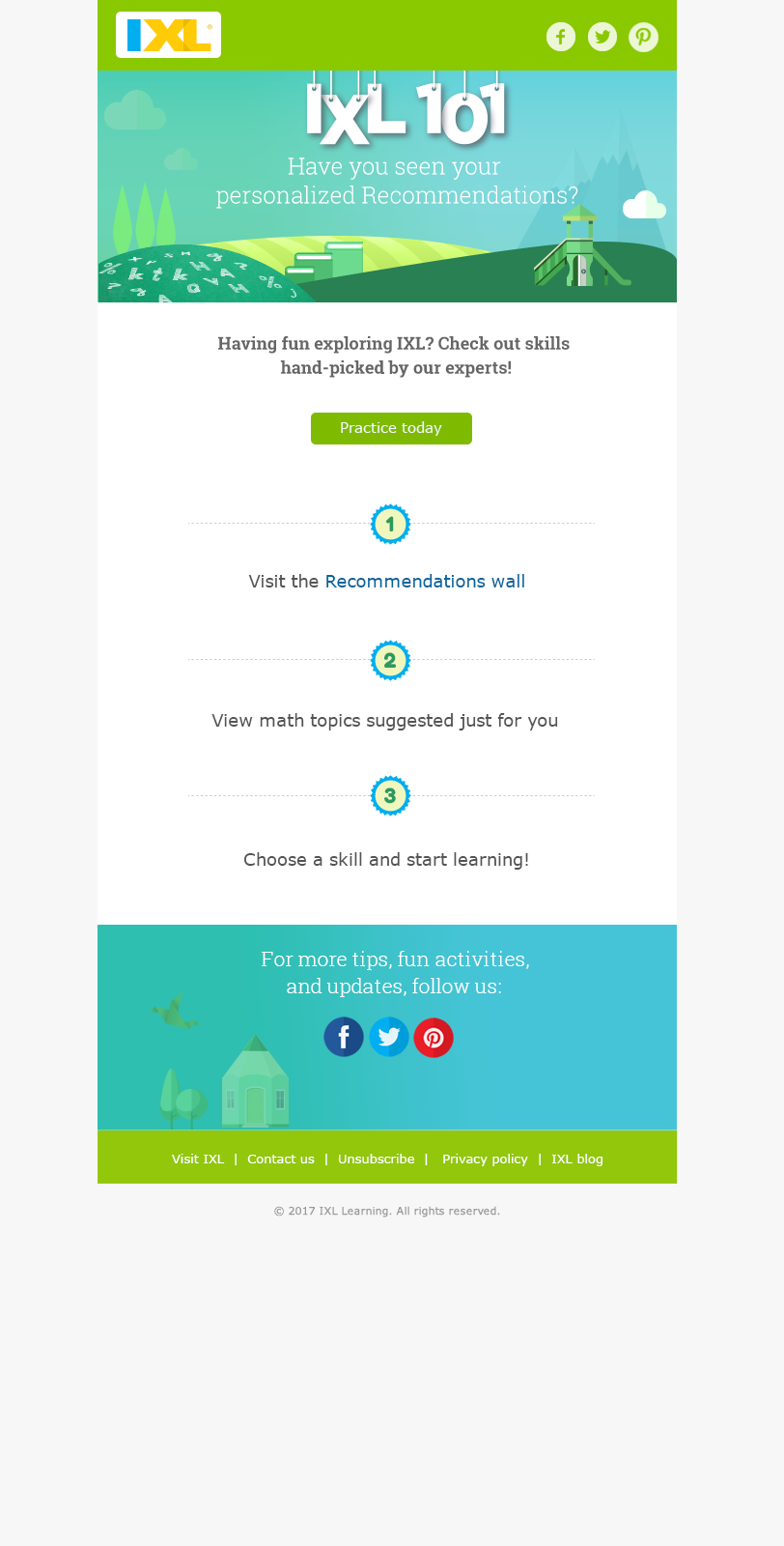 IXL email designs on Behance