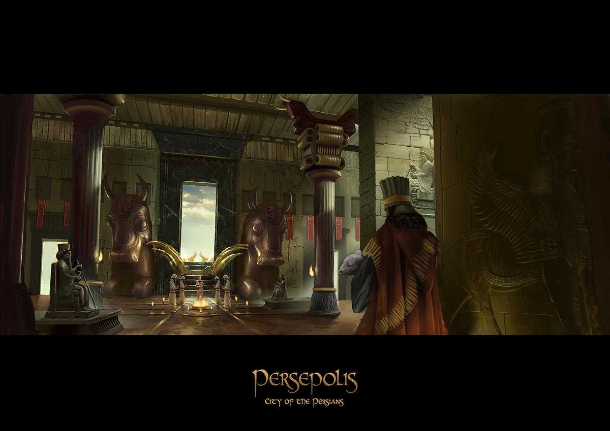 game props persia Persepolis persian Interior exterior temple concept art Marketplace ruins palace alexandria Achaemenid Xerxes