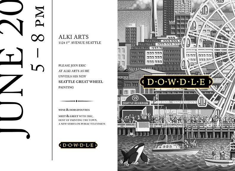 art gallery Invitation card