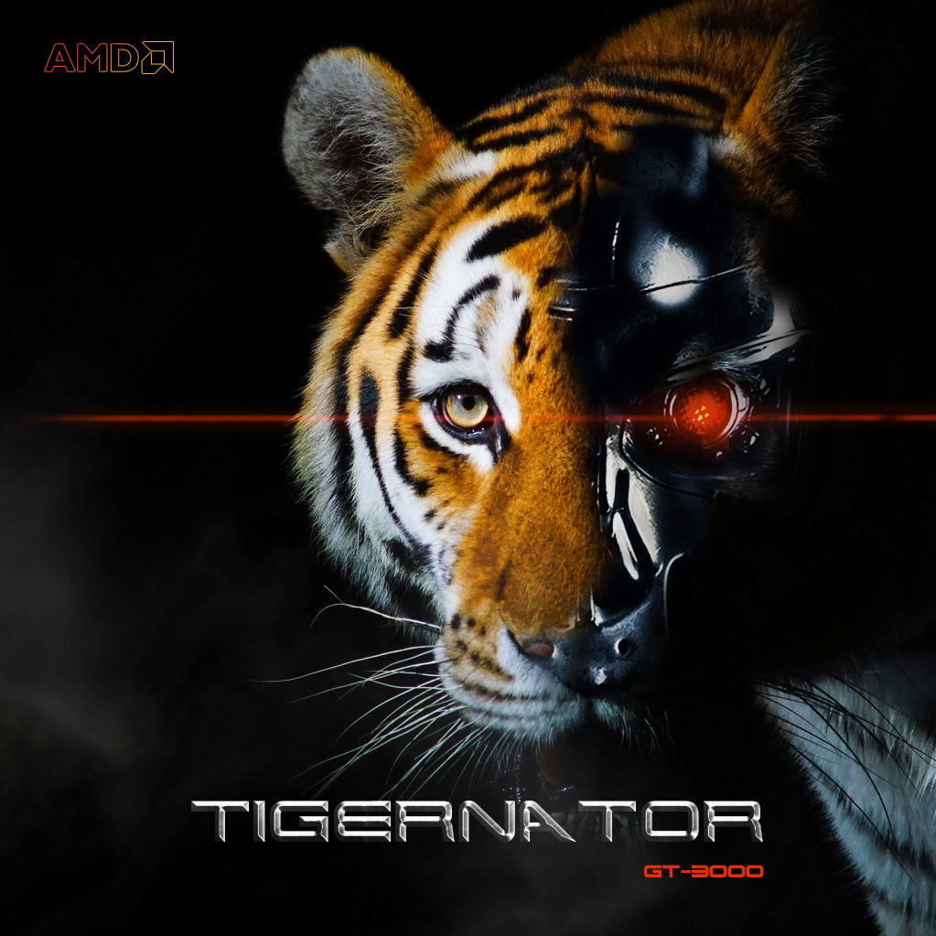 AMD amddesign Character Character design  gt-3000 terminator tiger tigernator