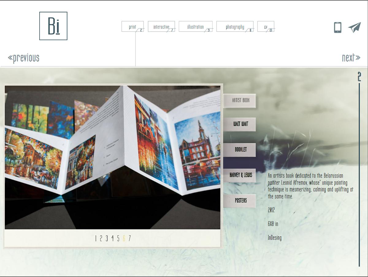 Interactive PDF Portfolio on Behance