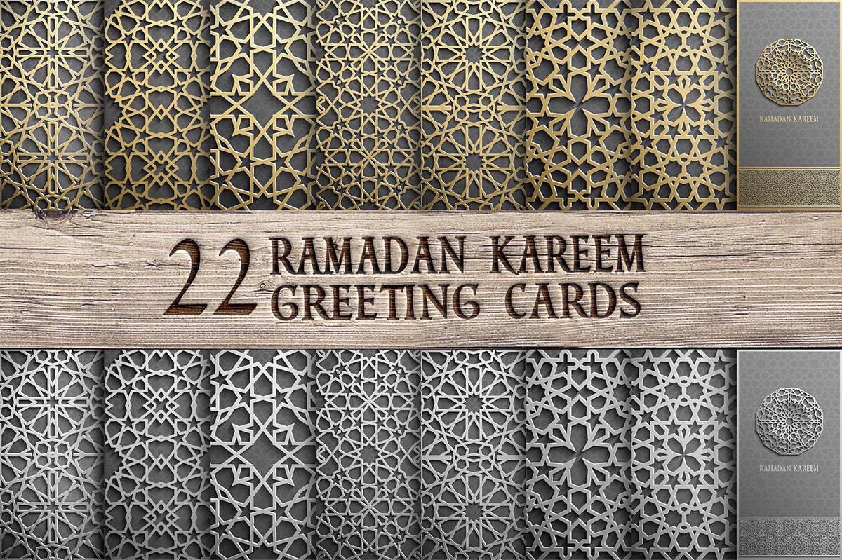 Ramadan Kareem Greeting Cards Set On Behance