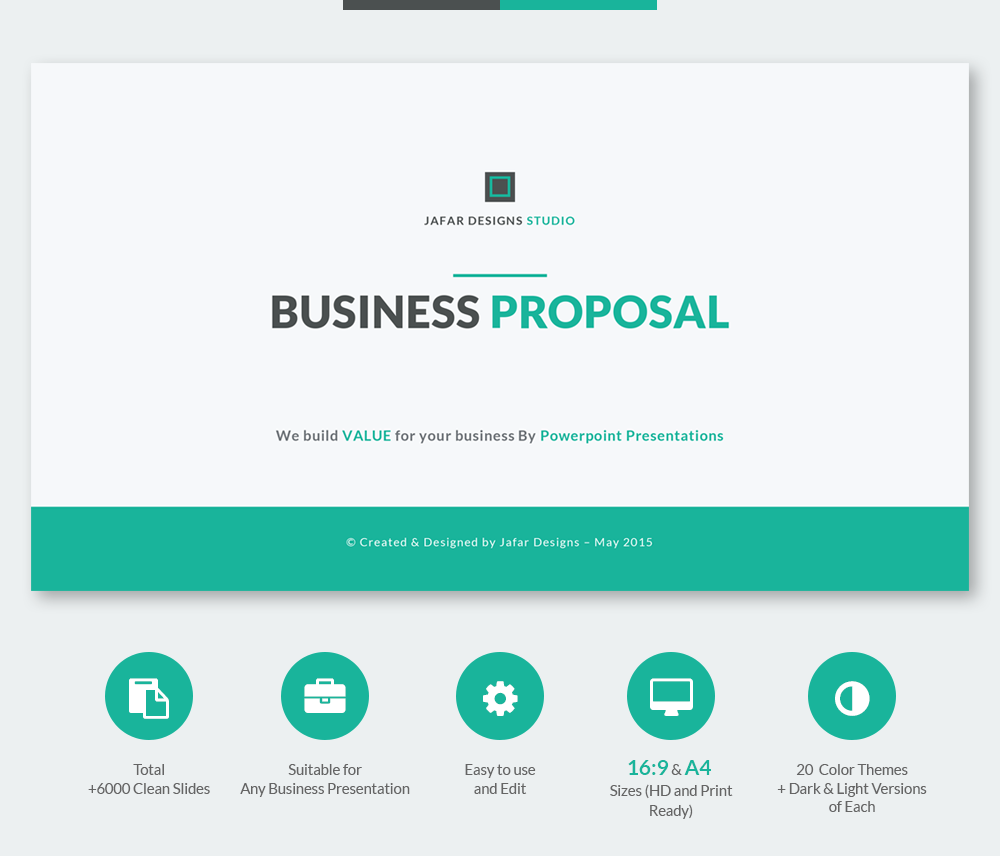 Business proposal powerpoint template on behance flashek