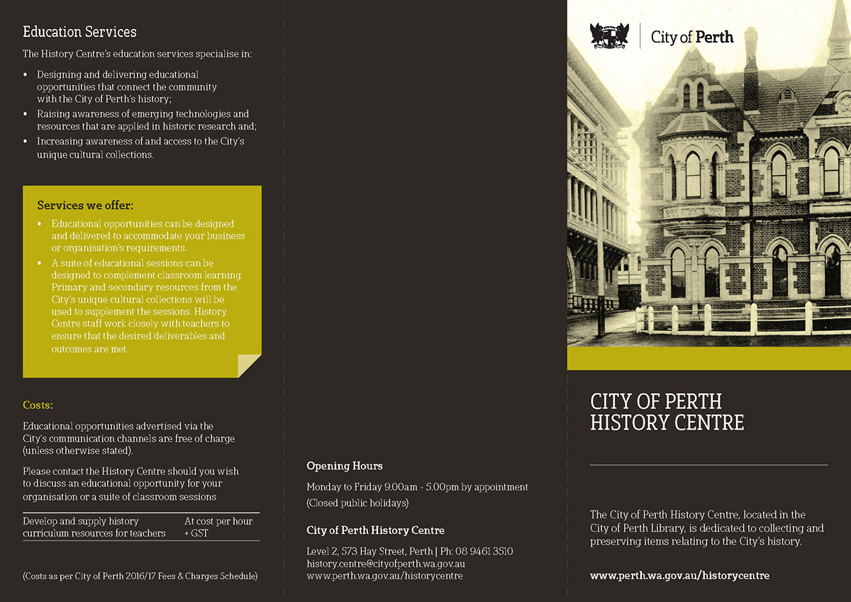 brochure dl History Centre
