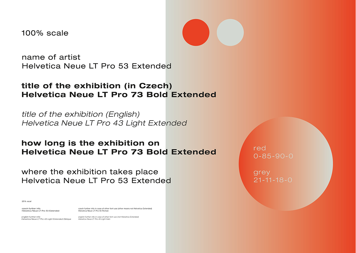 GHMP – visual style of Prague City Gallery on Behance