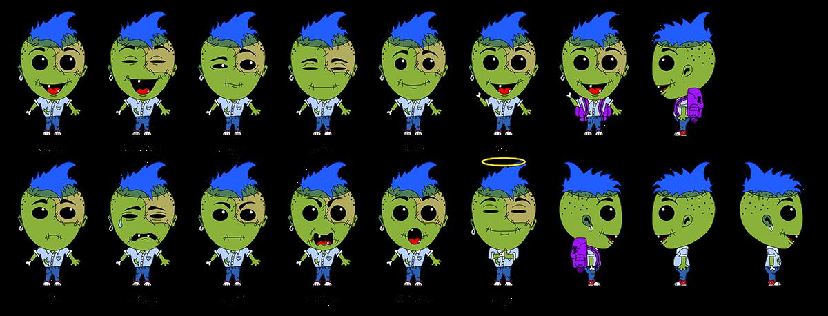 Zombie Boy Gestures