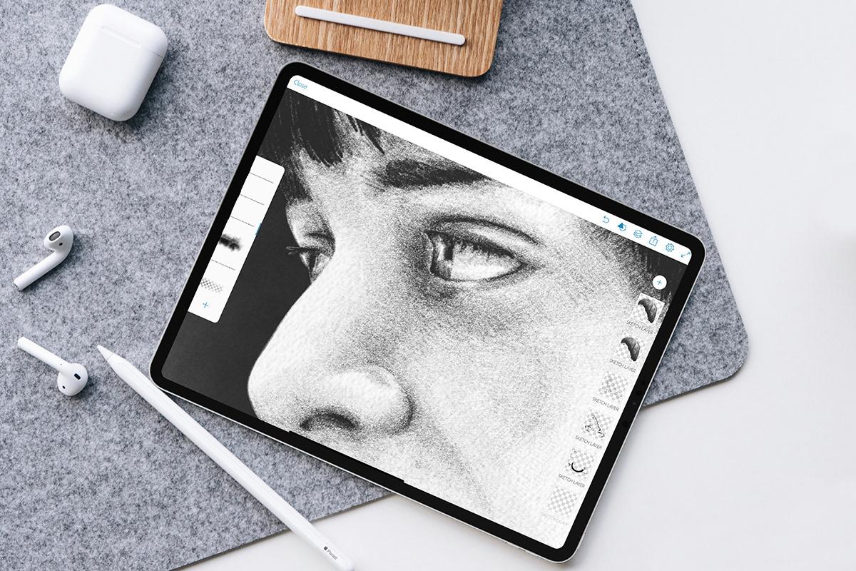 noah schnapp will byers Stranger Things Netflix Drawing  portrait ILLUSTRATION  Digital Art  adobe drawing adobe sketch