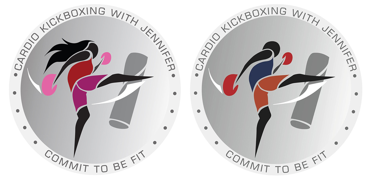cardio kickboxing logo on behance rh behance net kick boxing logo design kickboxing logos free