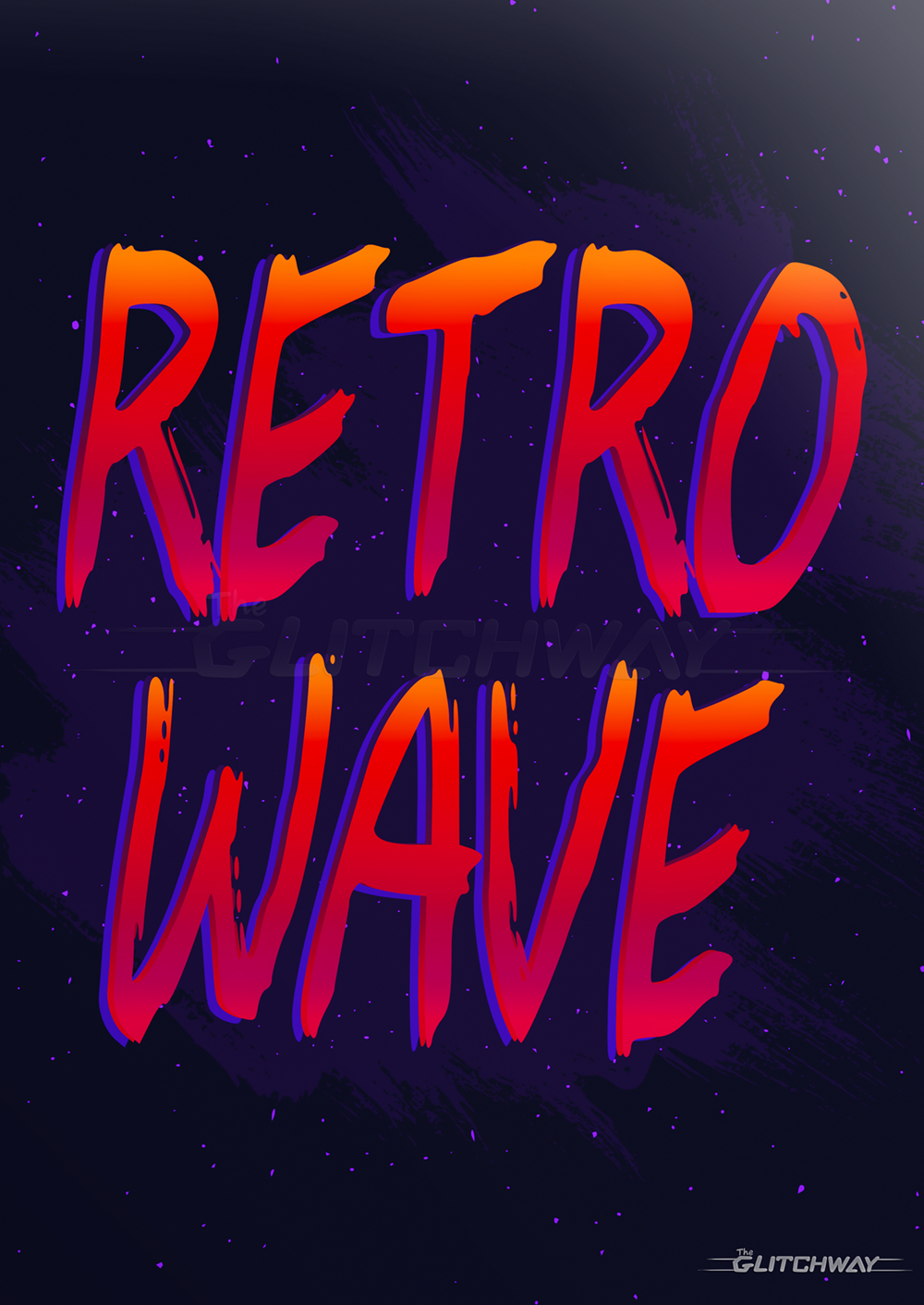 New Retro Wave Text Vintage 1980s Synthwave HD Wallpaper