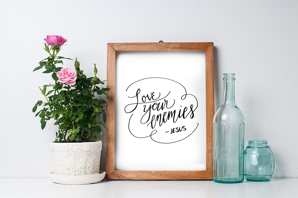 Bible Verse Hand Lettering