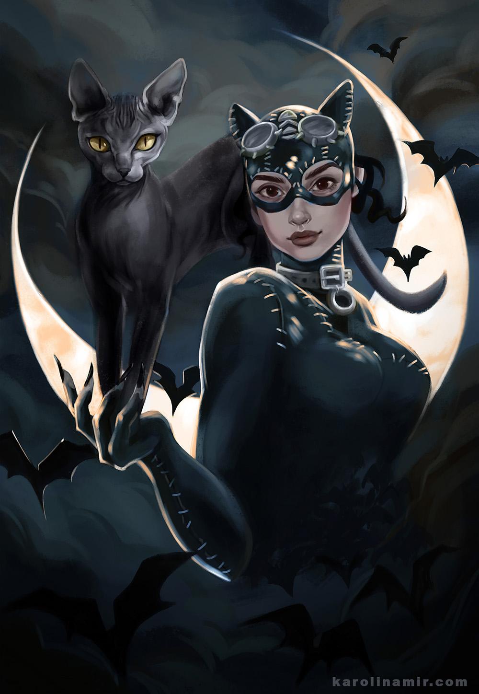 نتیجه تصویری برای catwoman fanart
