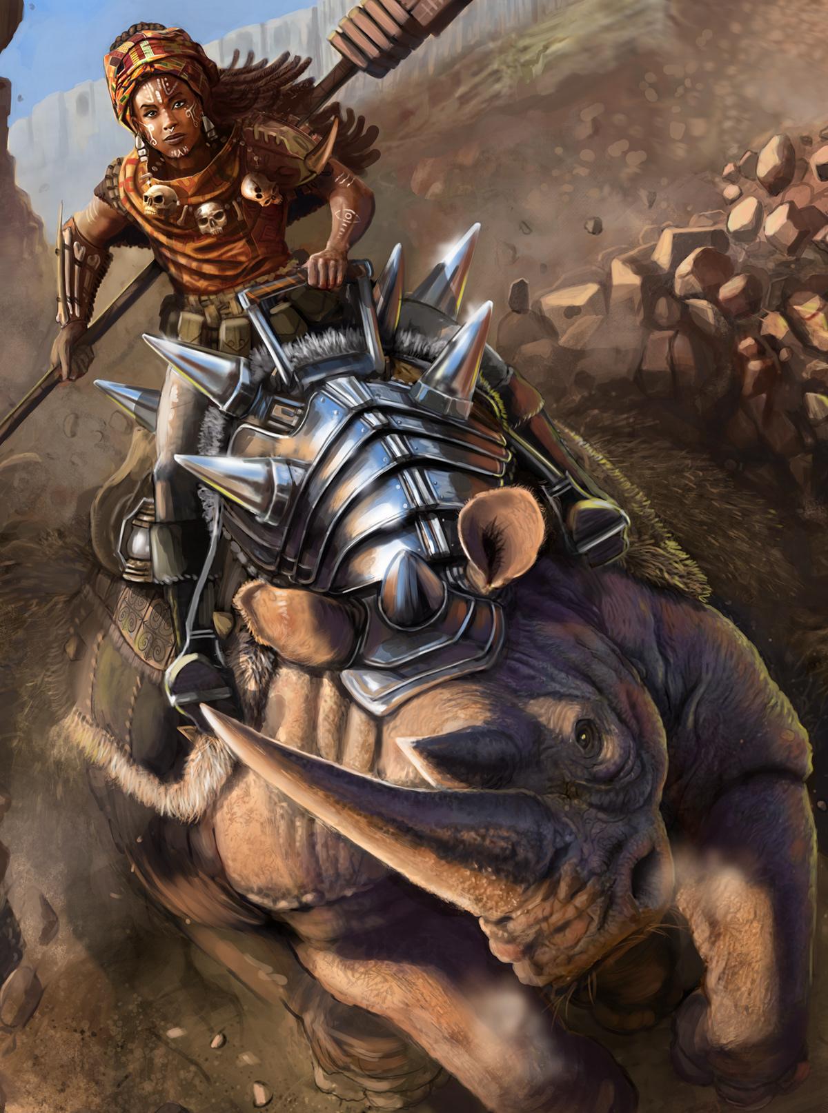 D&D,desert,dnd,druid,Magic  ,Rhino,Rhinoceros,stone