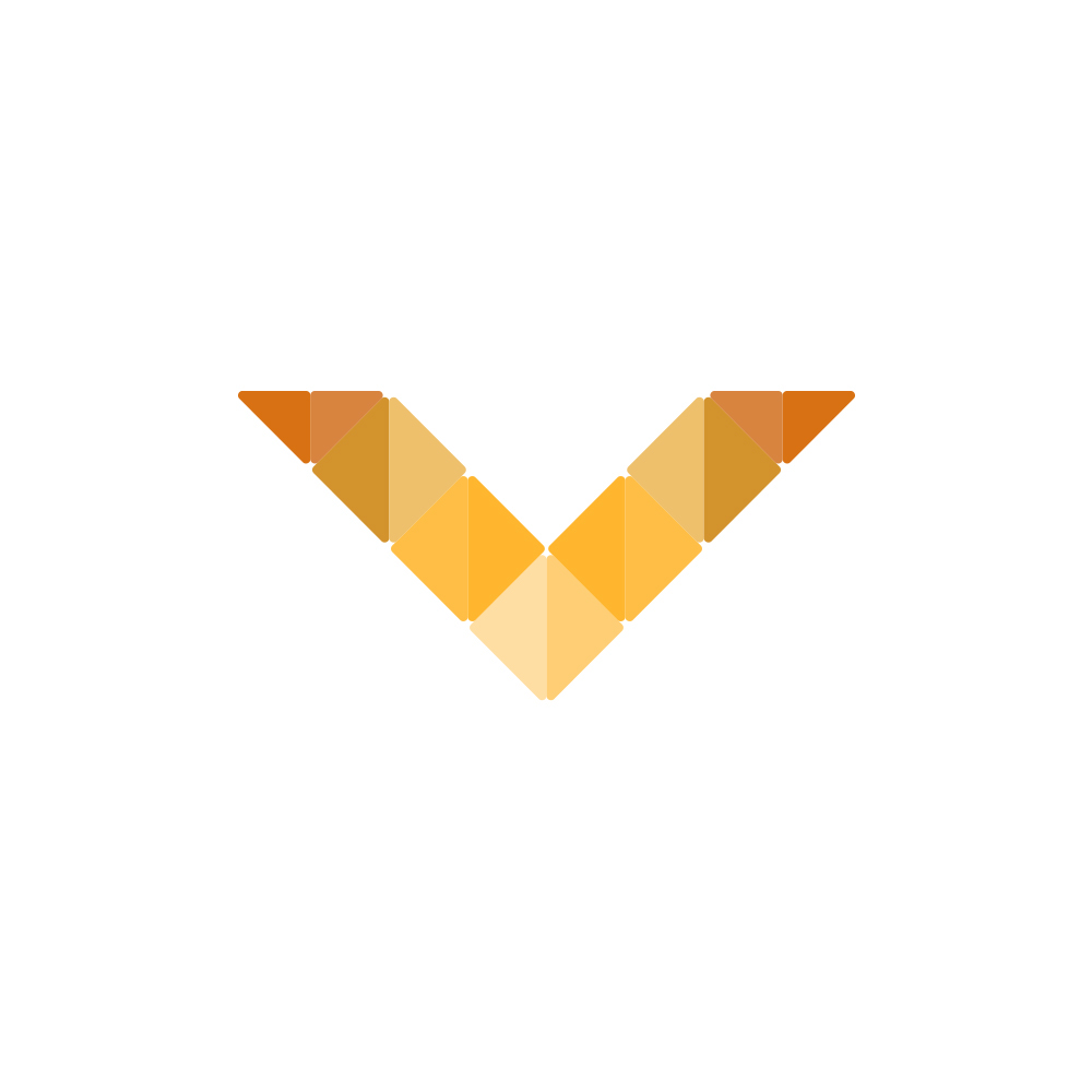 V logo letter logo logo letter design orange minimal modern Smart