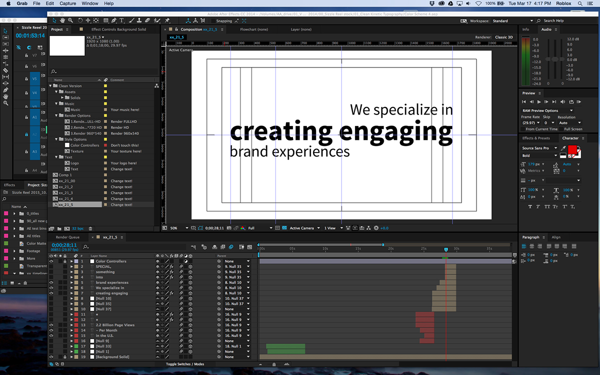 various post production motion graphics color grading audio post production Chroma / Color keying CUDA Platforms Encoding & Delivering Video for Various Outlets Including: Social media networks
