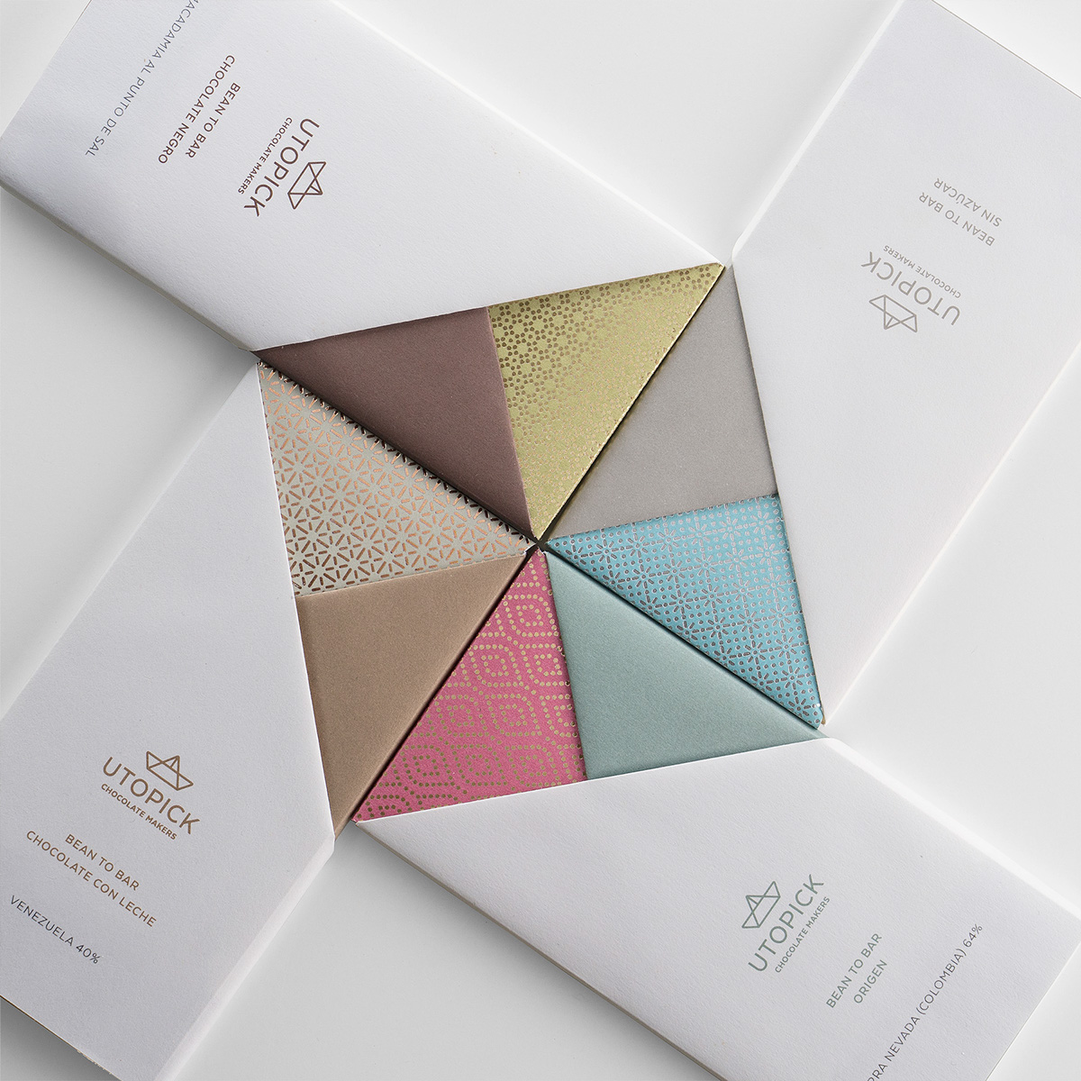 Delicious Brand Identity and Packaging: Utopick Chocolate Bars