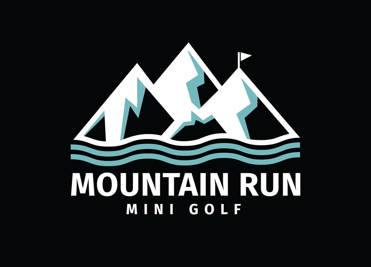Mountain Run Mini Golf Logo On Behance