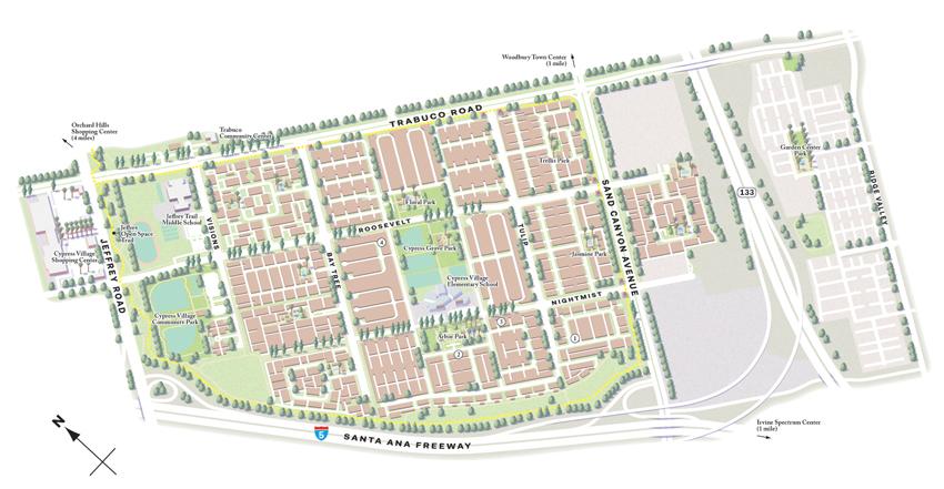 Villages of Irvine maps (California, US) on Behance on