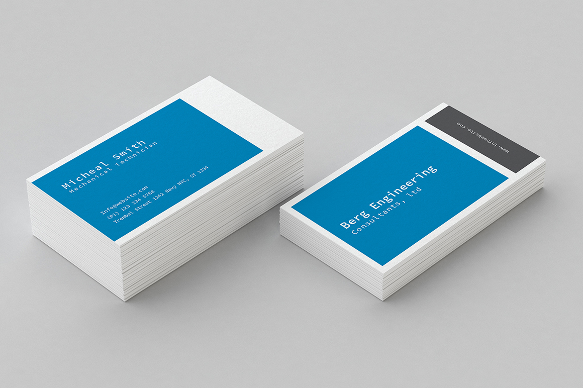 Business Card Box Template