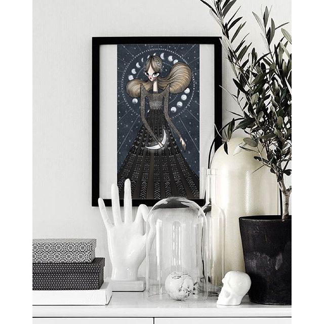 valentino fashionillustration georginachavez mexico cuu art moon stars