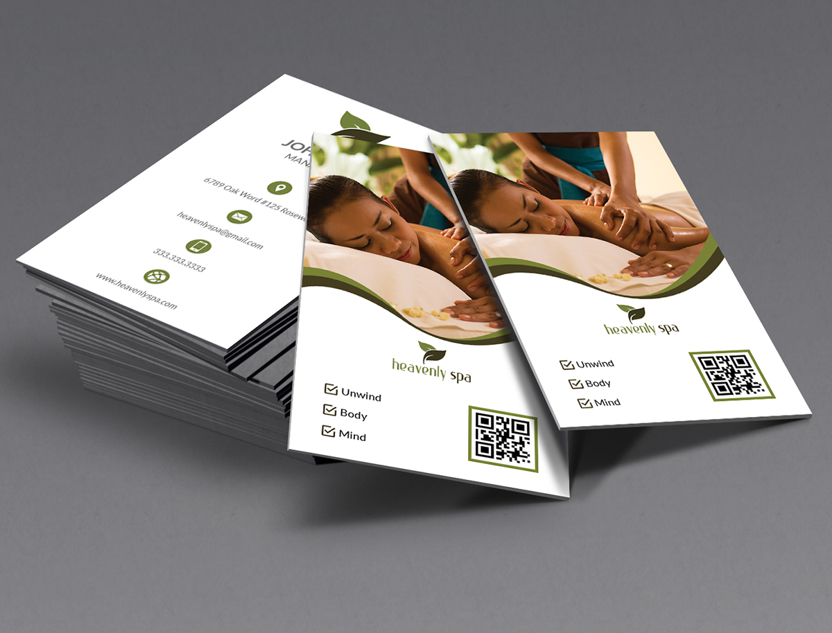 Heavenly Spa Business card on Behance