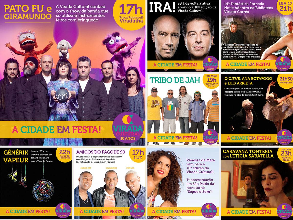 virada cultural art design posts banners palcos Show