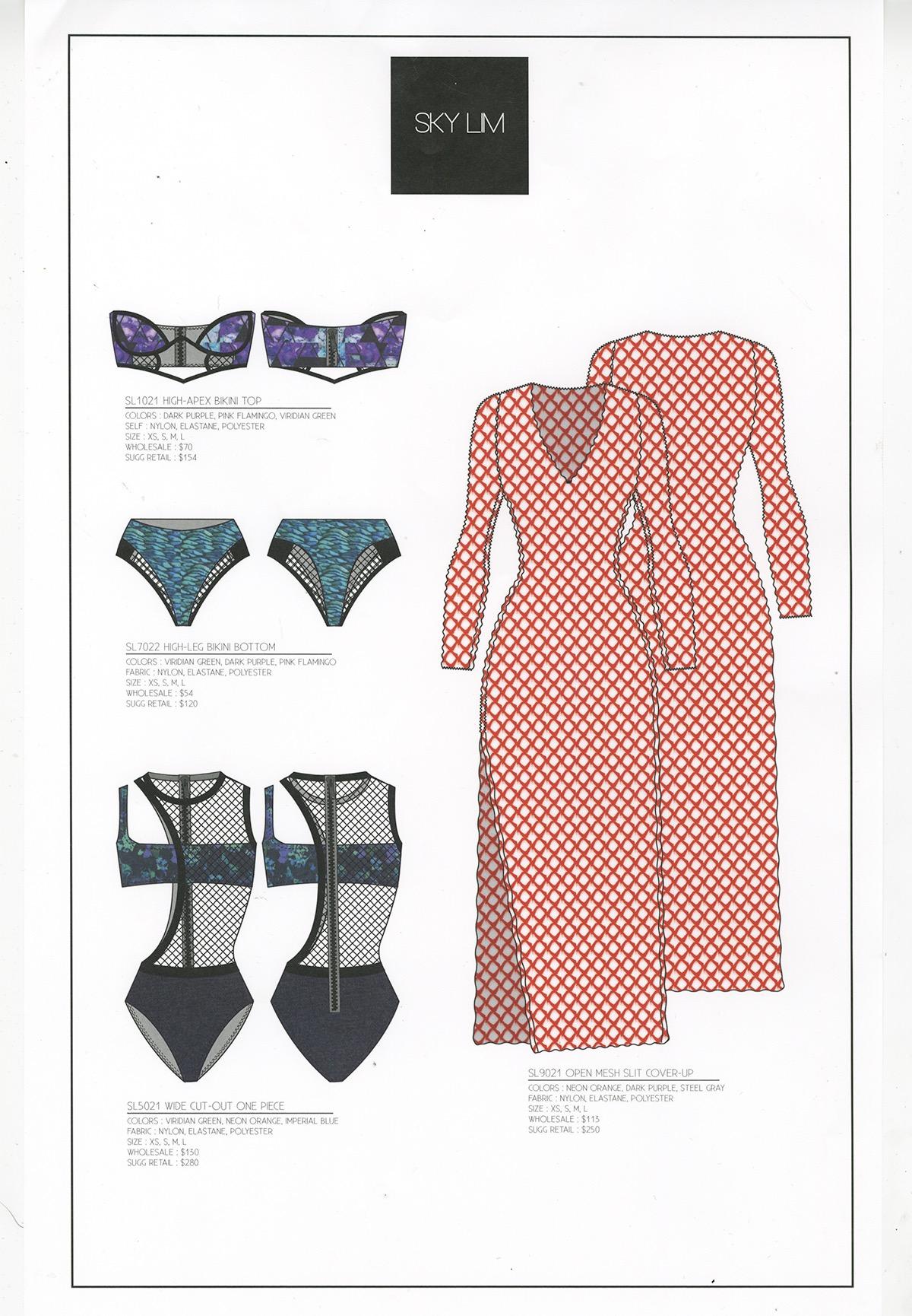 cad fashion desing swimwear Illustrator product development