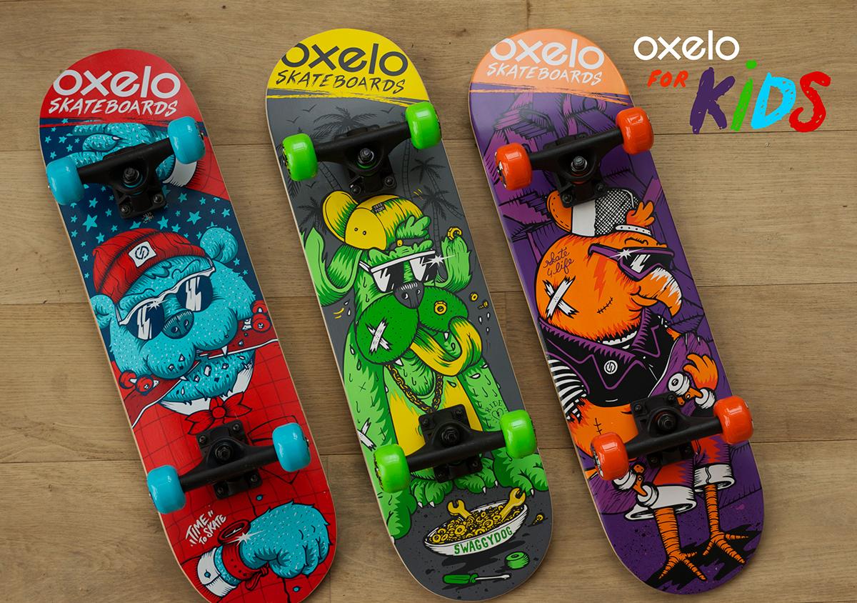 OXELO KIDS SKATEBOARDS 2015 on Behance