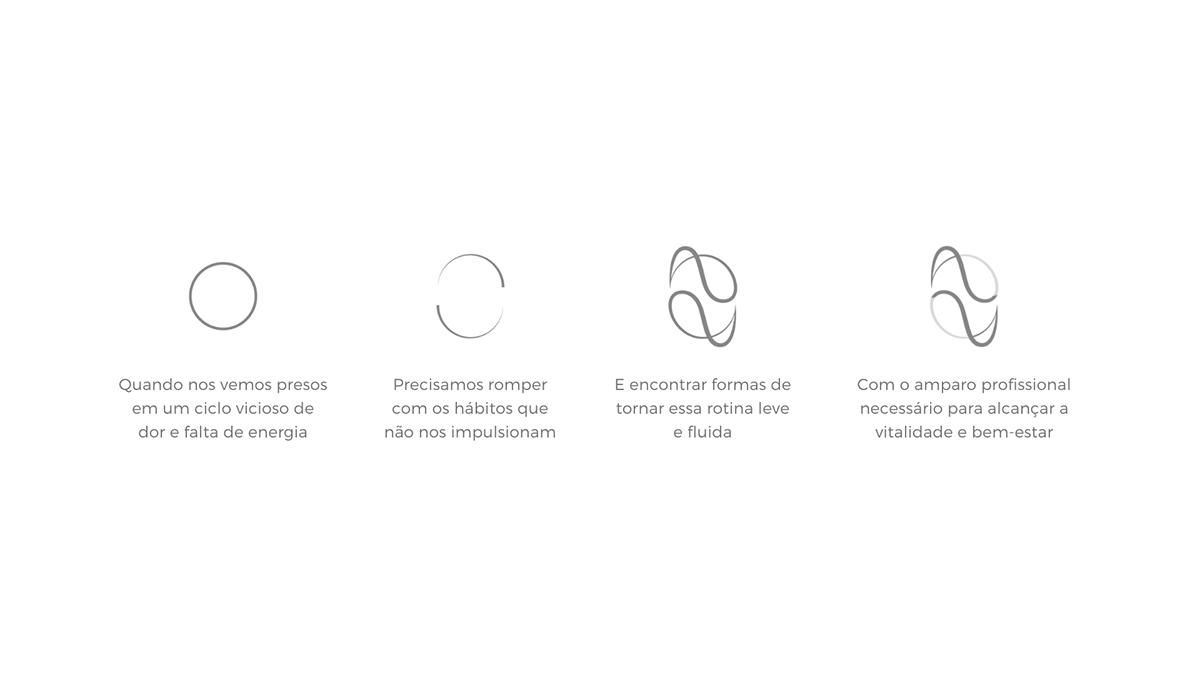 fluidez identidade visual leveza logo Logotipo marca Pilates studio de pilates
