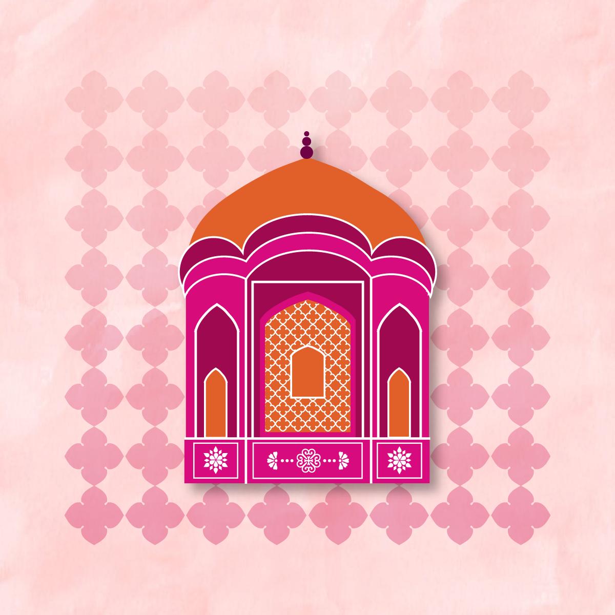 India,pink,logo,Jaipur