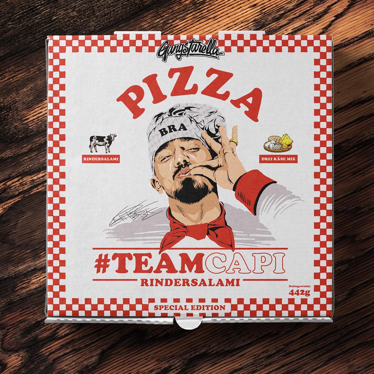 CAPITAL BRA gangstarella Packaging Pizza rap rapper universal music