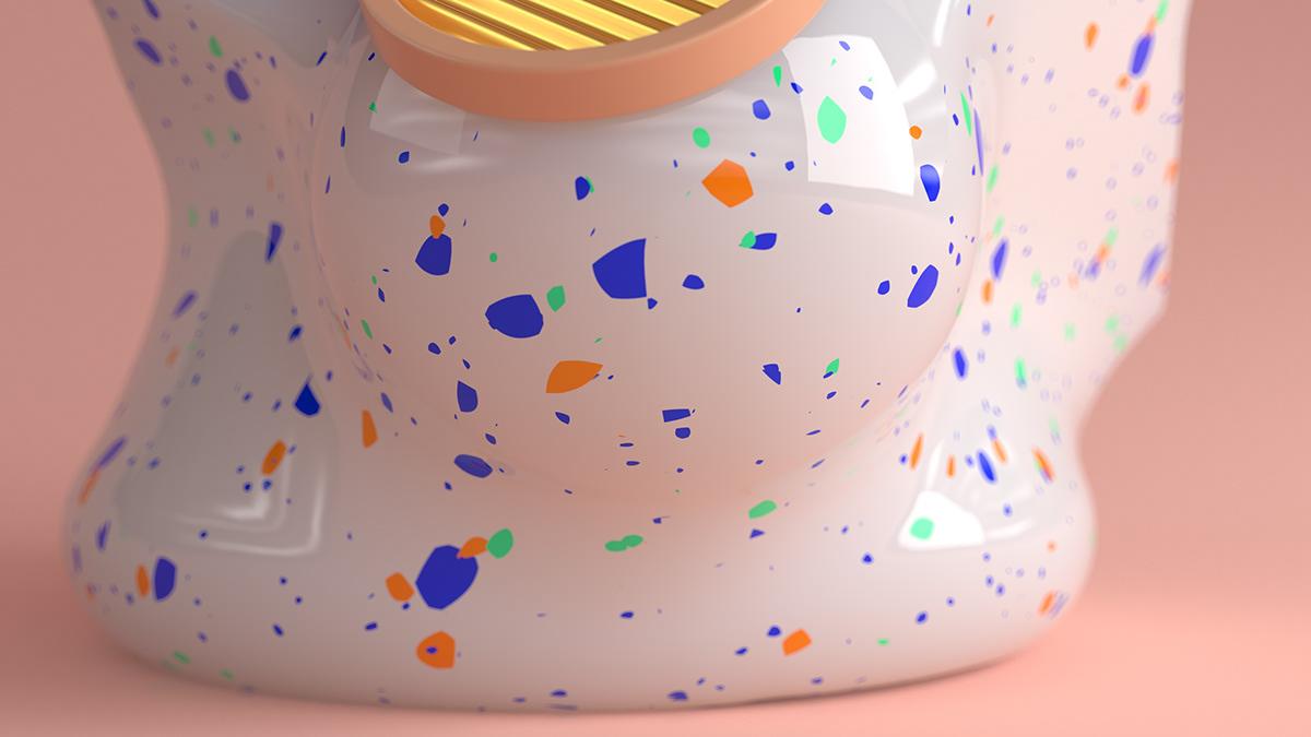 mollis corpora future materials Forms design smooth decorative product lladro porcelain
