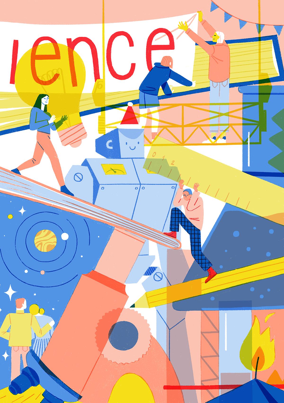science festival postcards city SMM