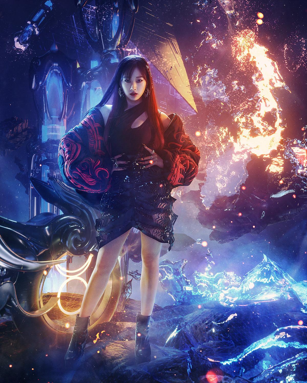 3D fantasy Fashion  kpop music photo Scifi