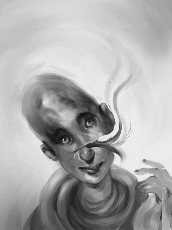 surreal portrait strange ILLUSTRATION  weird creepy alien odd photoshop Digital Art