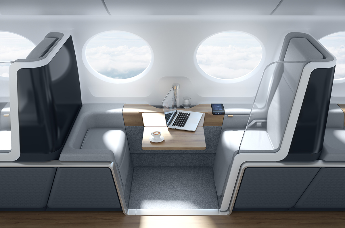 update boom supersonic airline interior on behance. Black Bedroom Furniture Sets. Home Design Ideas