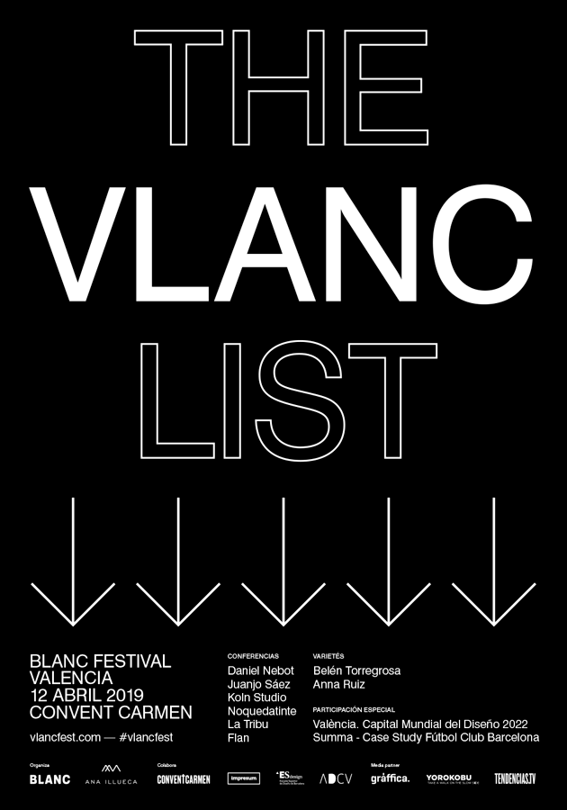 blanc festival typography   campaign poster identity graphic design  valencia barcelona bw