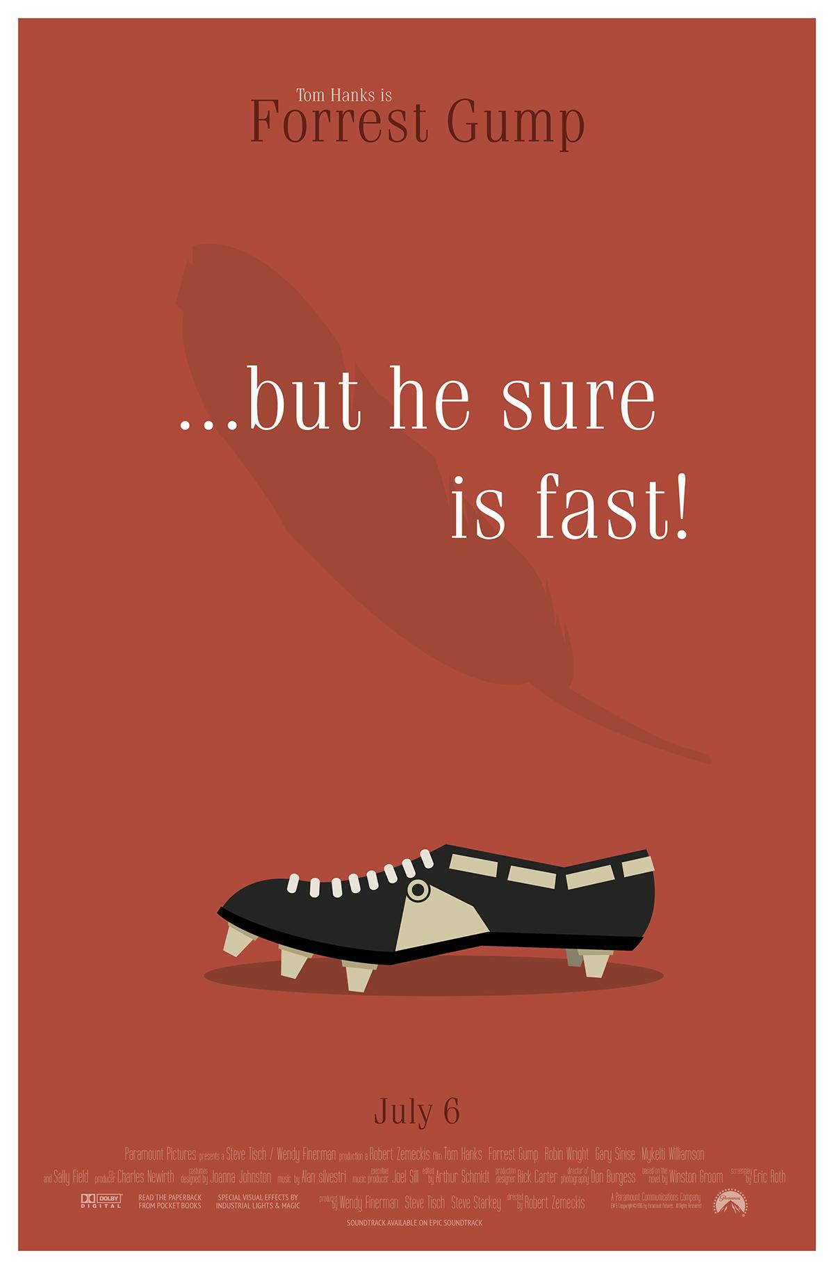 Forrest Gump Movie Poster Series On Behance