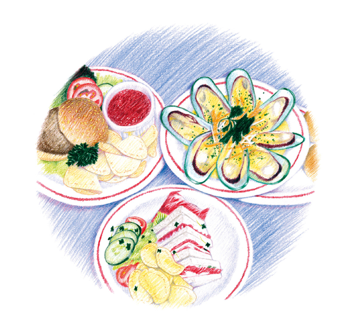 Food  vegetables fish Shell Fish lunch dinner seafood Health diet breakfast