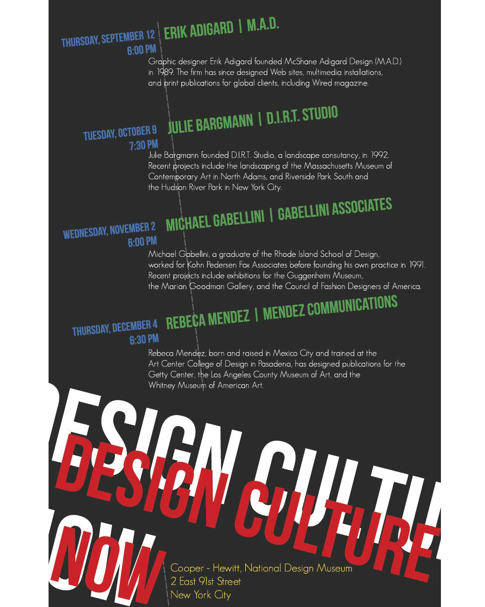 Design Culture Now Posters on Behance