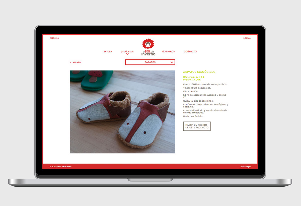 Identidad Corporativa catalogo online marca de ropa Marca infantil