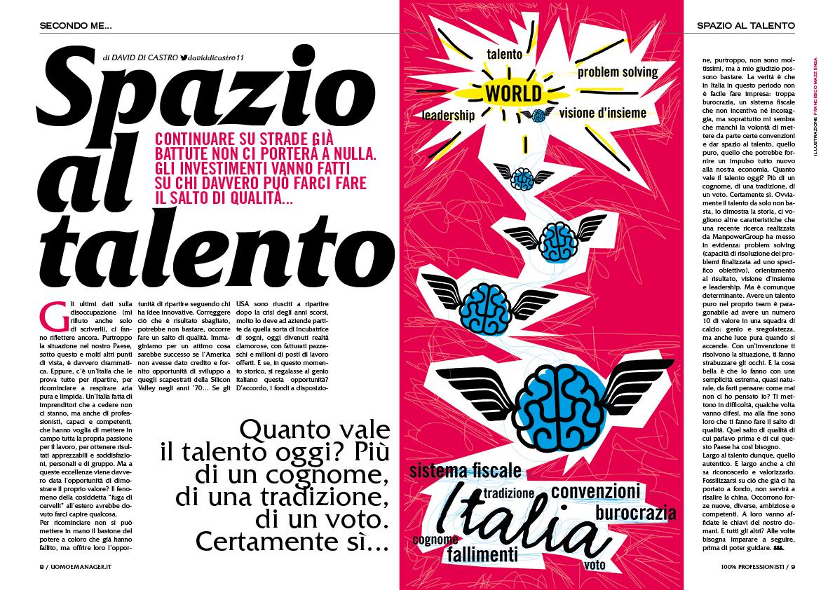illustrazioni Uomo&Manager Francesco Mazzenga