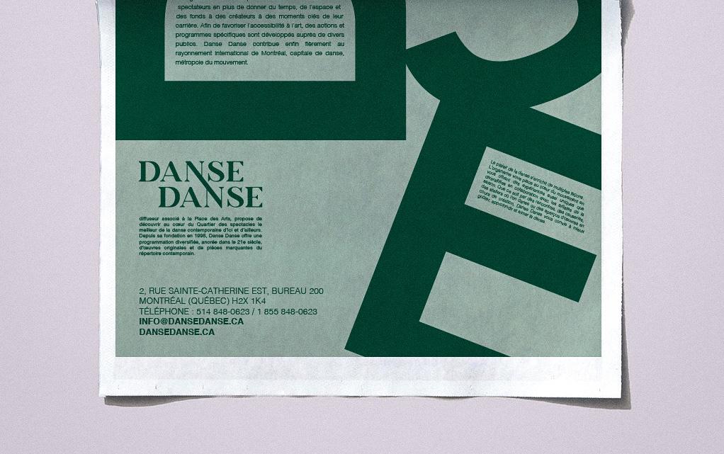 affiche DANCE   danse green poster vert
